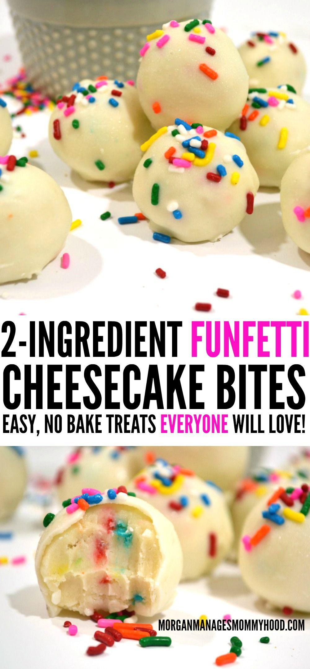 2 Ingredient Cake Batter Cheesecake Bites Recipe 2 Ingredient Cakes Easy No Bake Desserts Cheesecake Bites Recipe
