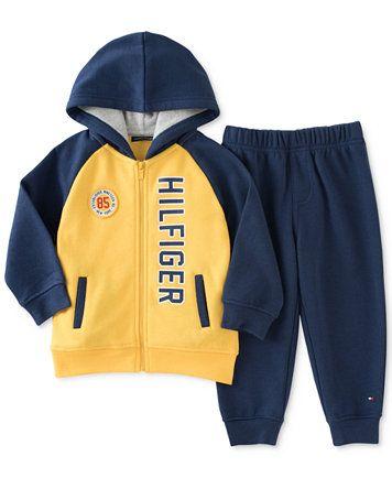 38eb86de7f08a Tommy Hilfiger Baby Boys' 2-Pc. Hoodie & Pants Set | macys.com ...