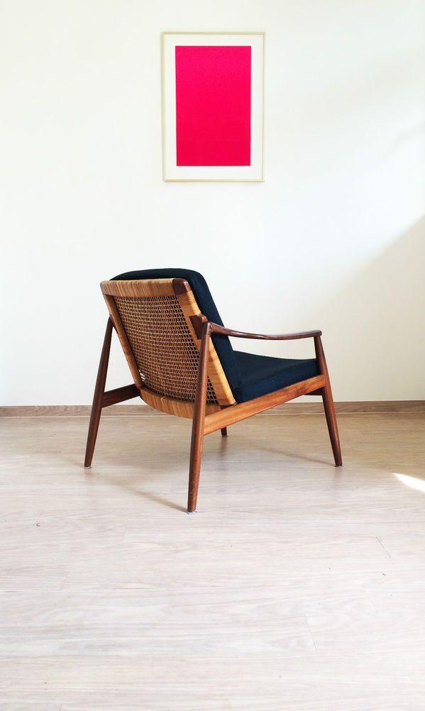 Sessel Easy Chair Hartmut Lohmeyer Teak 50er 60er Vintage Danish