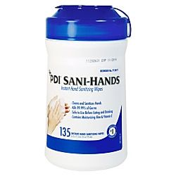 Unimed Sani Dex Alcohol Wipes 6 X 7 1 2 Canister Of 135 Hand