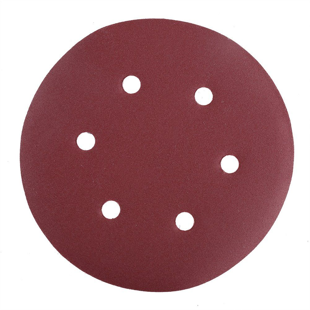 Sanding Disc 40 60 80 100 120 180 240 320 400 800 Grit Sandpaper Assortment Lotfancy Hook And Loop 6inch 6hole Orbit Sander Round Pa Sanding Sandpaper Sanders