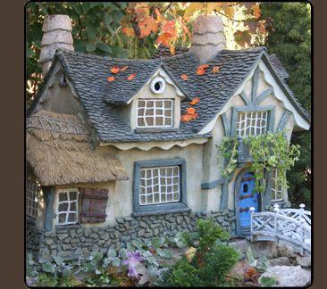 Large Gnomenculture Fairy\'s Garden Miniature Cottage 27\