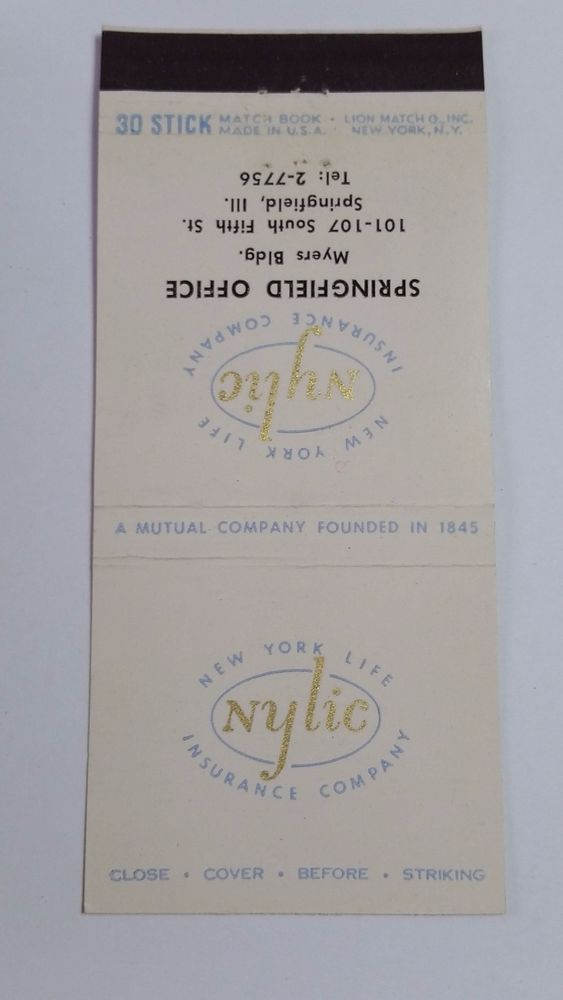 New York Life Insurance Company Springfield Illionois 30 Stick