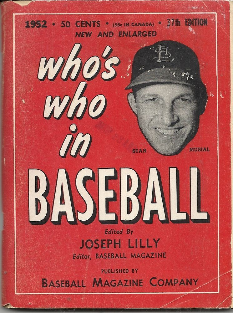 1952 Who S Who In Baseball Stan Musial Cover Sports Magazine Stan Musial Vintage Sports
