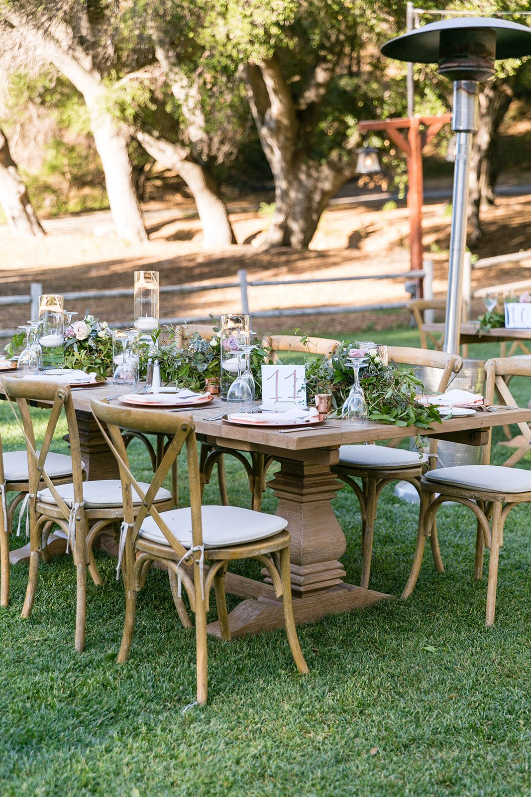 Reception site table details Temecula Creek Inn wedding