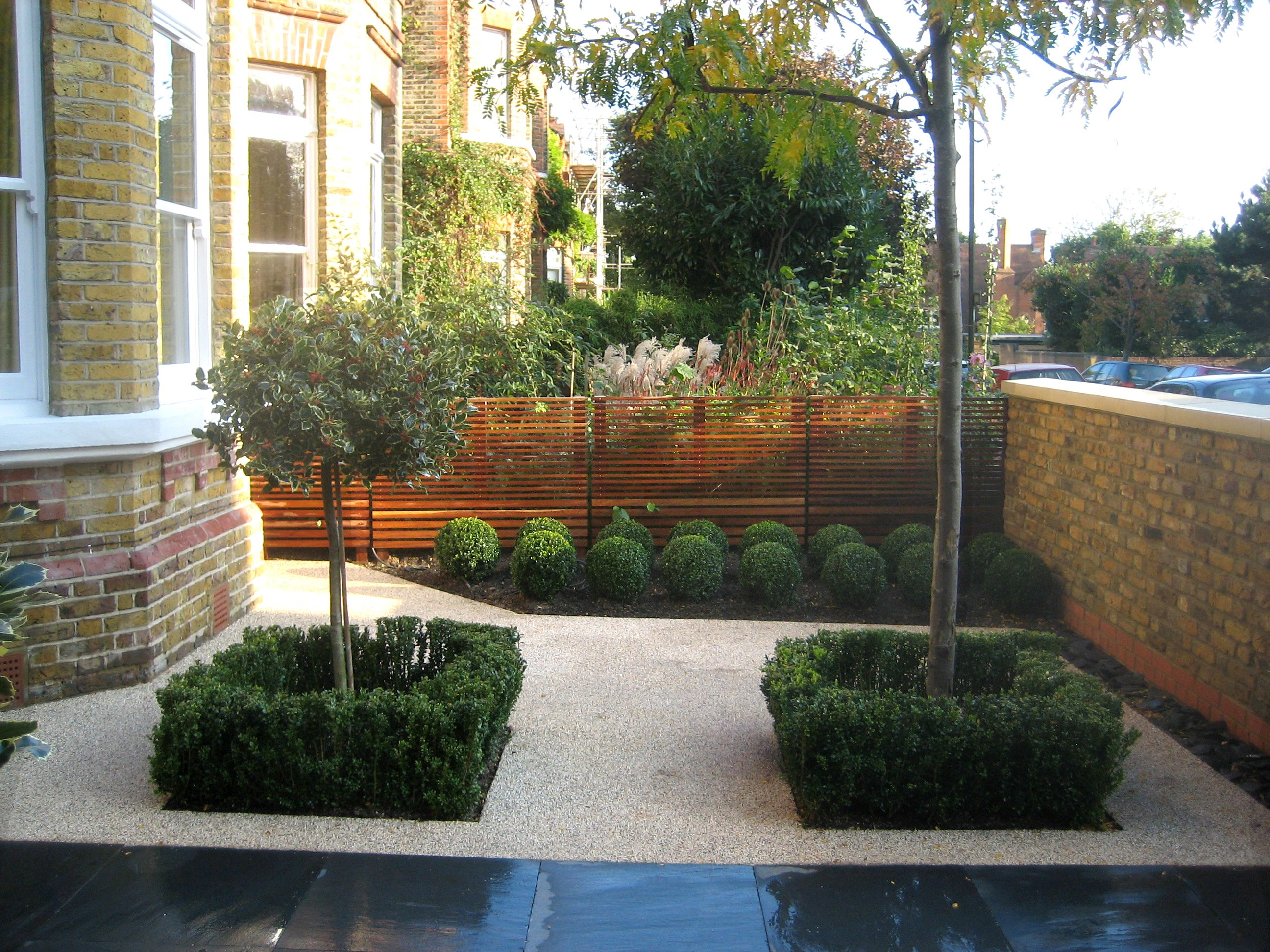 contemporary front garden in london