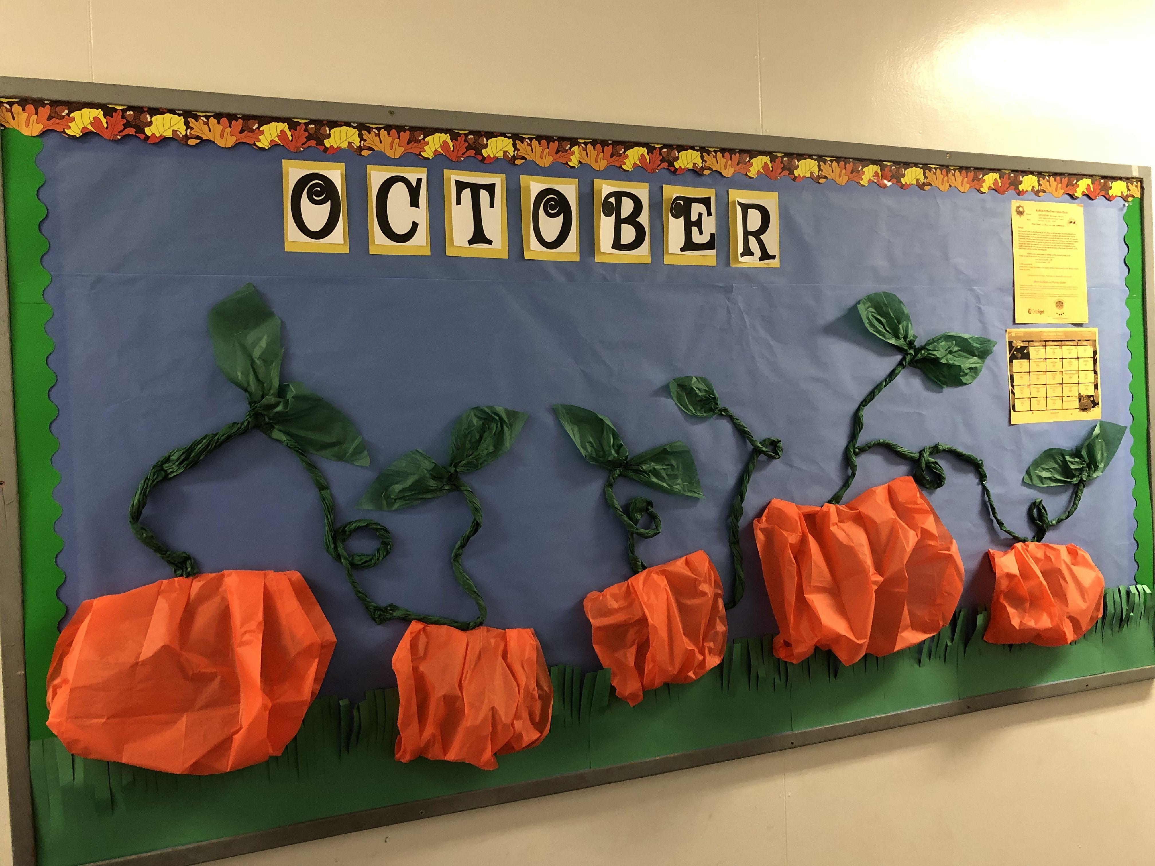 Fall Bulletin Board Theme #pumpkinpatchbulletinboard Pumpkin Patch, October #pumpkinpatchbulletinboard