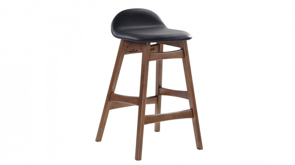 Buy Enzo Barstool Walnut Leg Black Harvey Norman Au Bar Stools Stool Cool House Designs