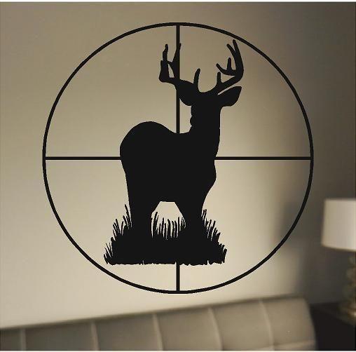 Deer Through Scope Buck Hunting Wall Decals Vinyl Stickers
