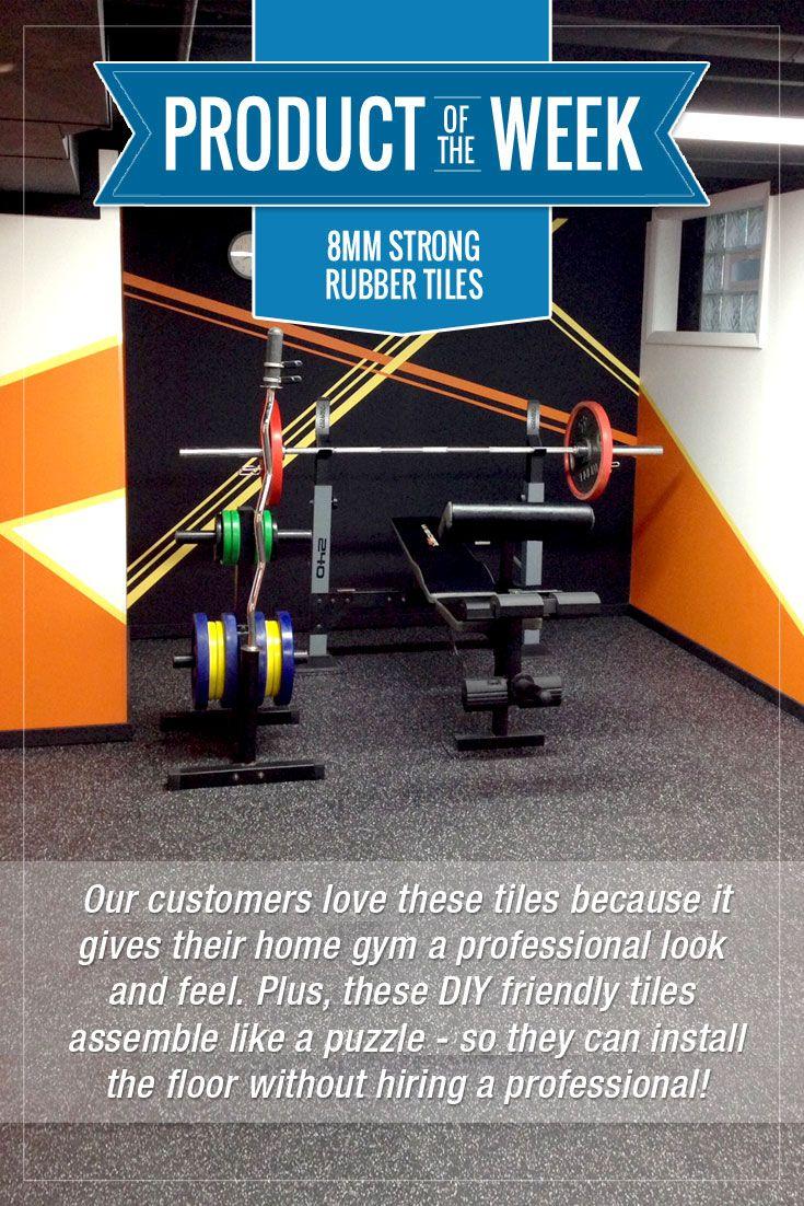 8mm Strong Rubber Tiles Rubber Tiles Gym Flooring Tiles