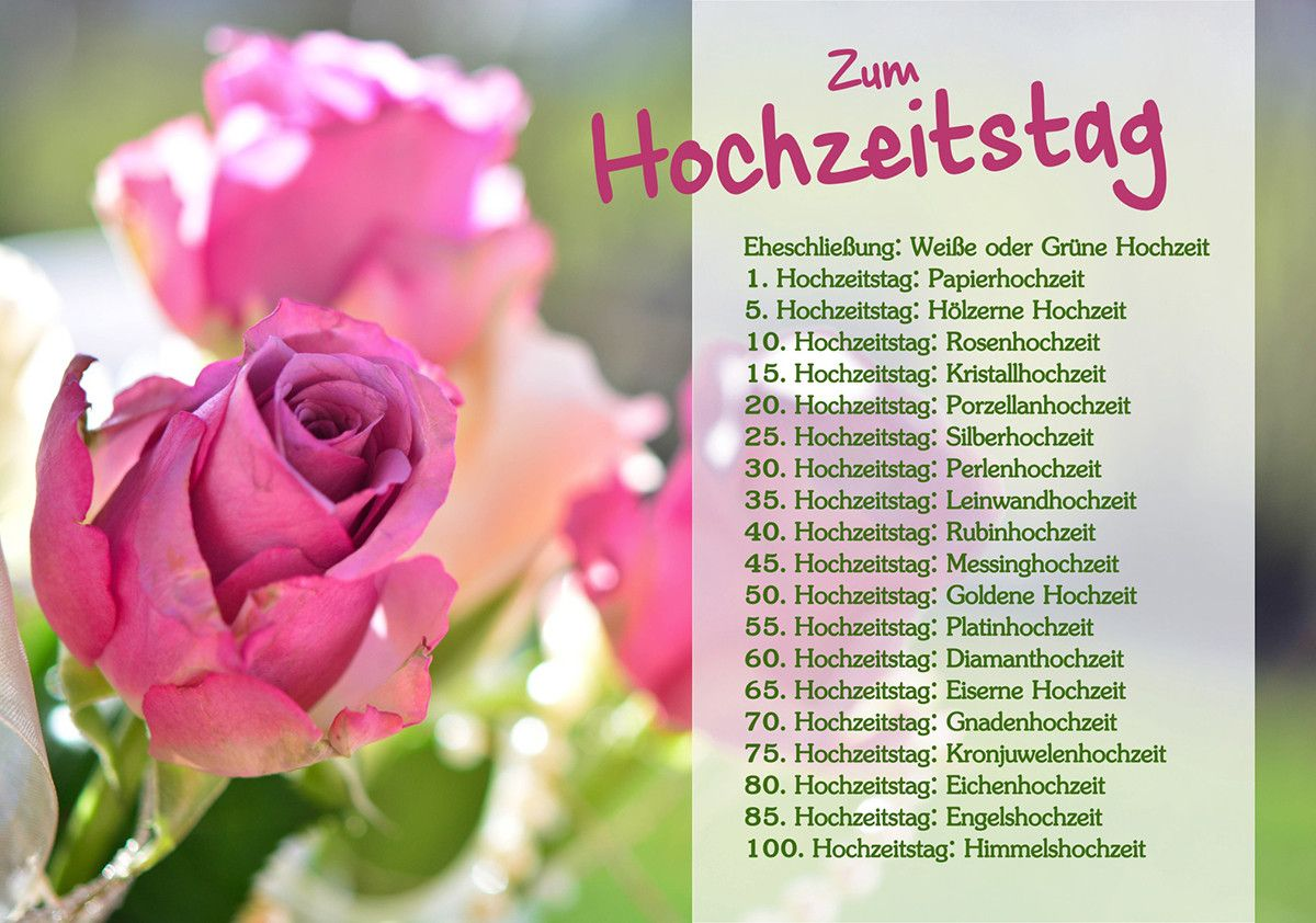 Hochzeitstag Glückwünsche Awesome Hochzeitstage Rsc Karten