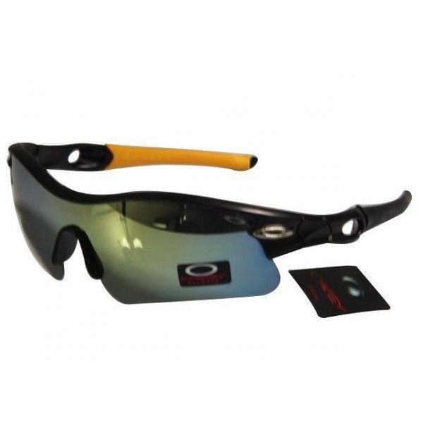2a31ef47c Gafas De Sol · $14.99 Cheap Oakley Radar Sunglasses Yellow Blue Iridium  Black Yellow Black Frames Online Deal www.