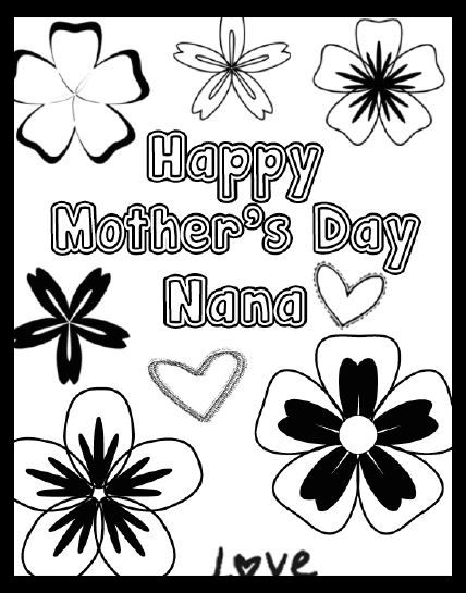 Free Mother S Day Printable Coloring Page For Nana Printable Coloring Pages Free Printable Coloring Pages Coloring Pages