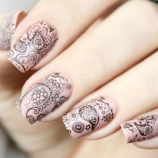 A003 Paisley Buffet Stamping Plate For Stamped Nail Art Design ...