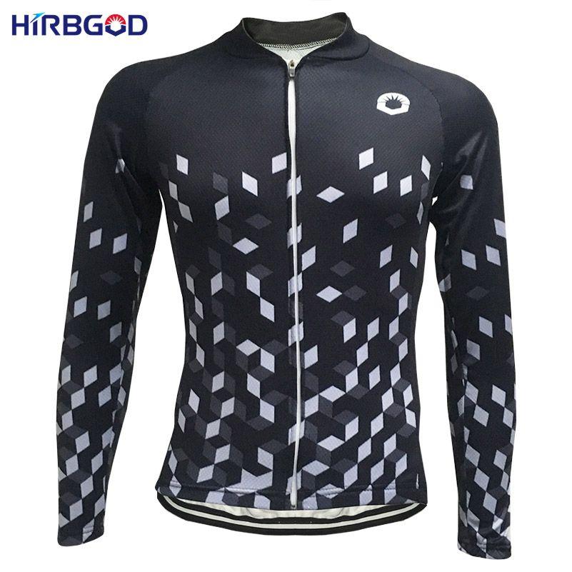 b62c33c7c HIRBGOD Black Retro Summer Cycling Clothing Women Cycling Jersey Long Sleeve  Breathable Mountain Bike Jersey Women