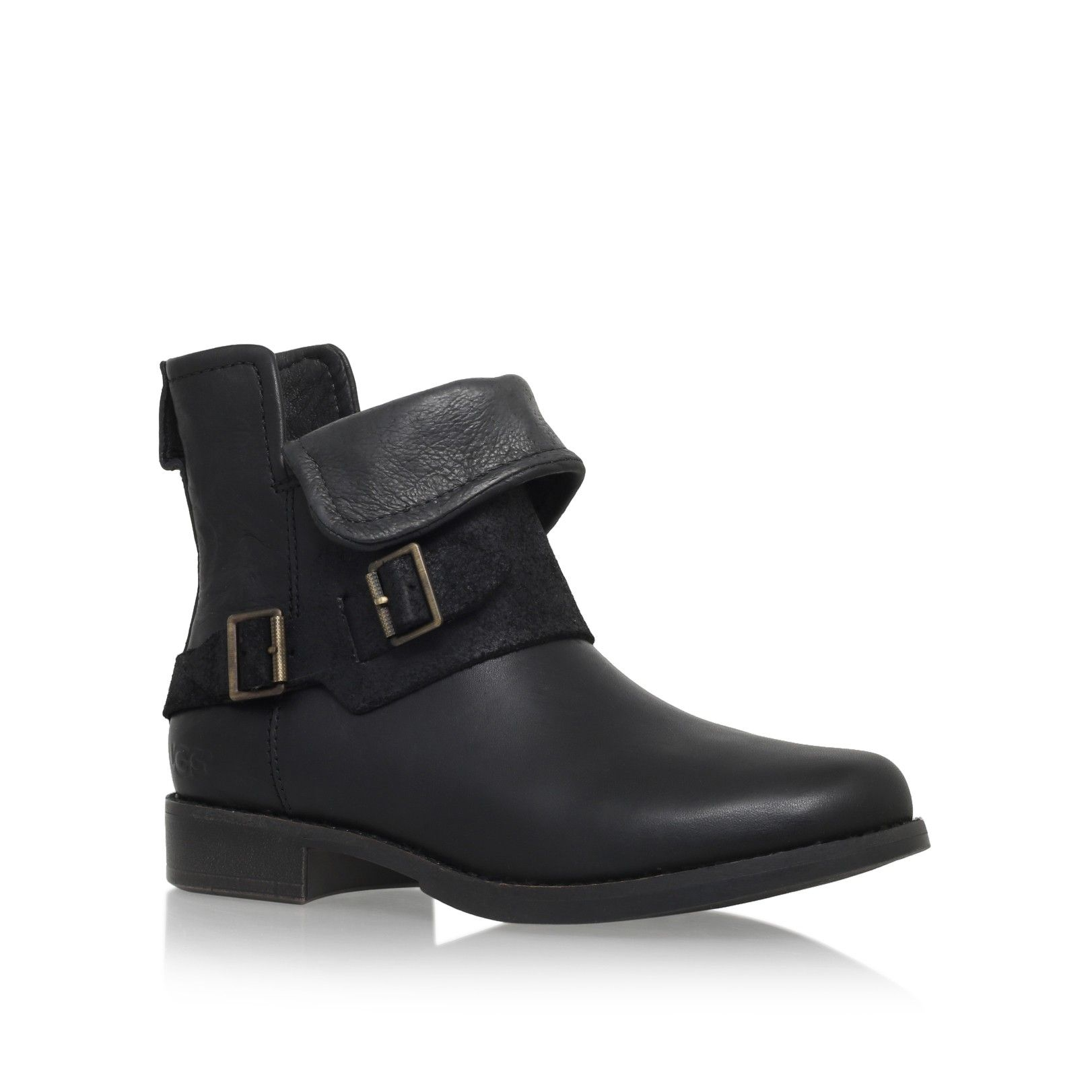 cybele black flat ankle boots from UGG Australia | Clothing ...