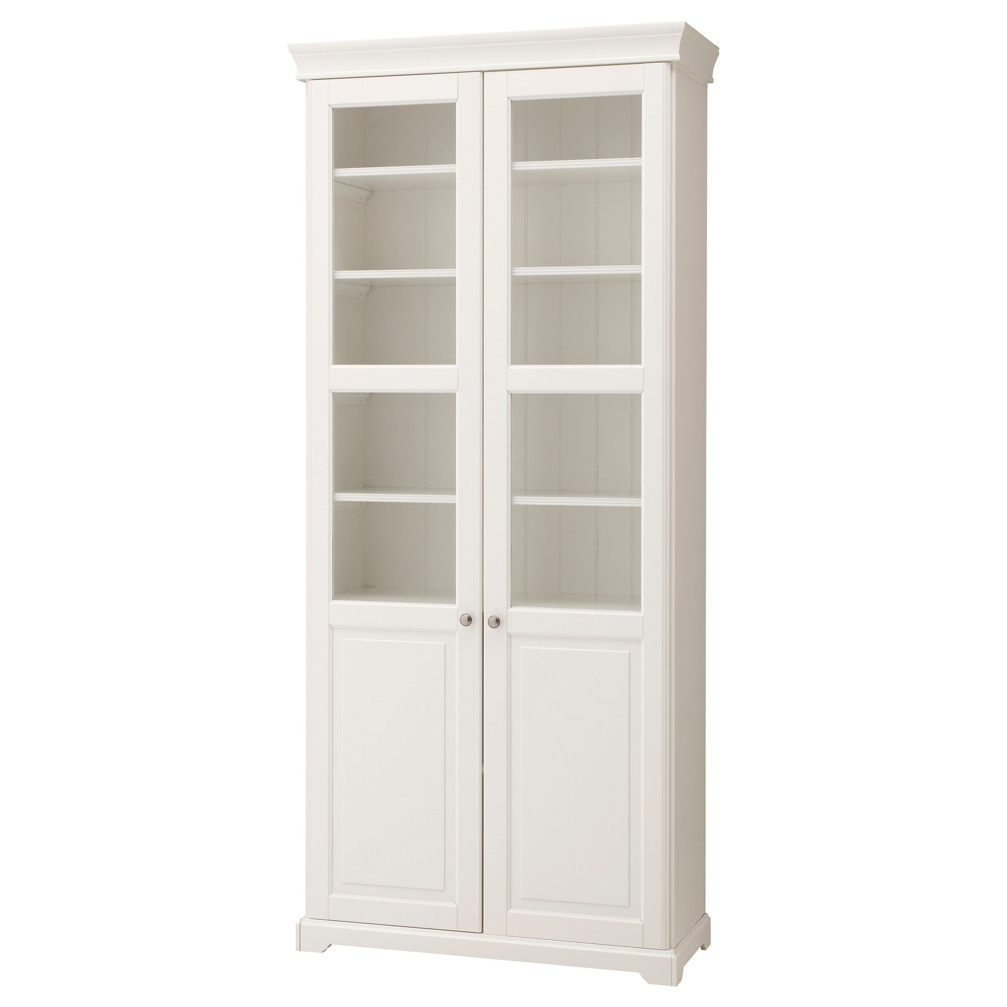 liatorp bookcase with glass doors white 37 3 4x84 1 4