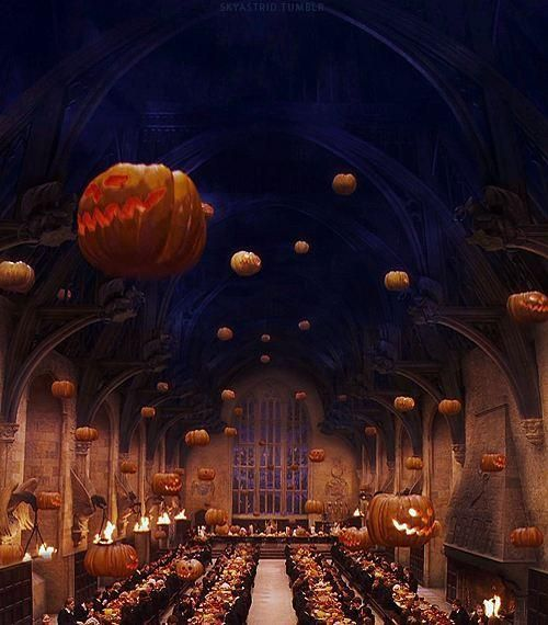 Harry Potter Hogwarts Great Hall On Halloween Night With