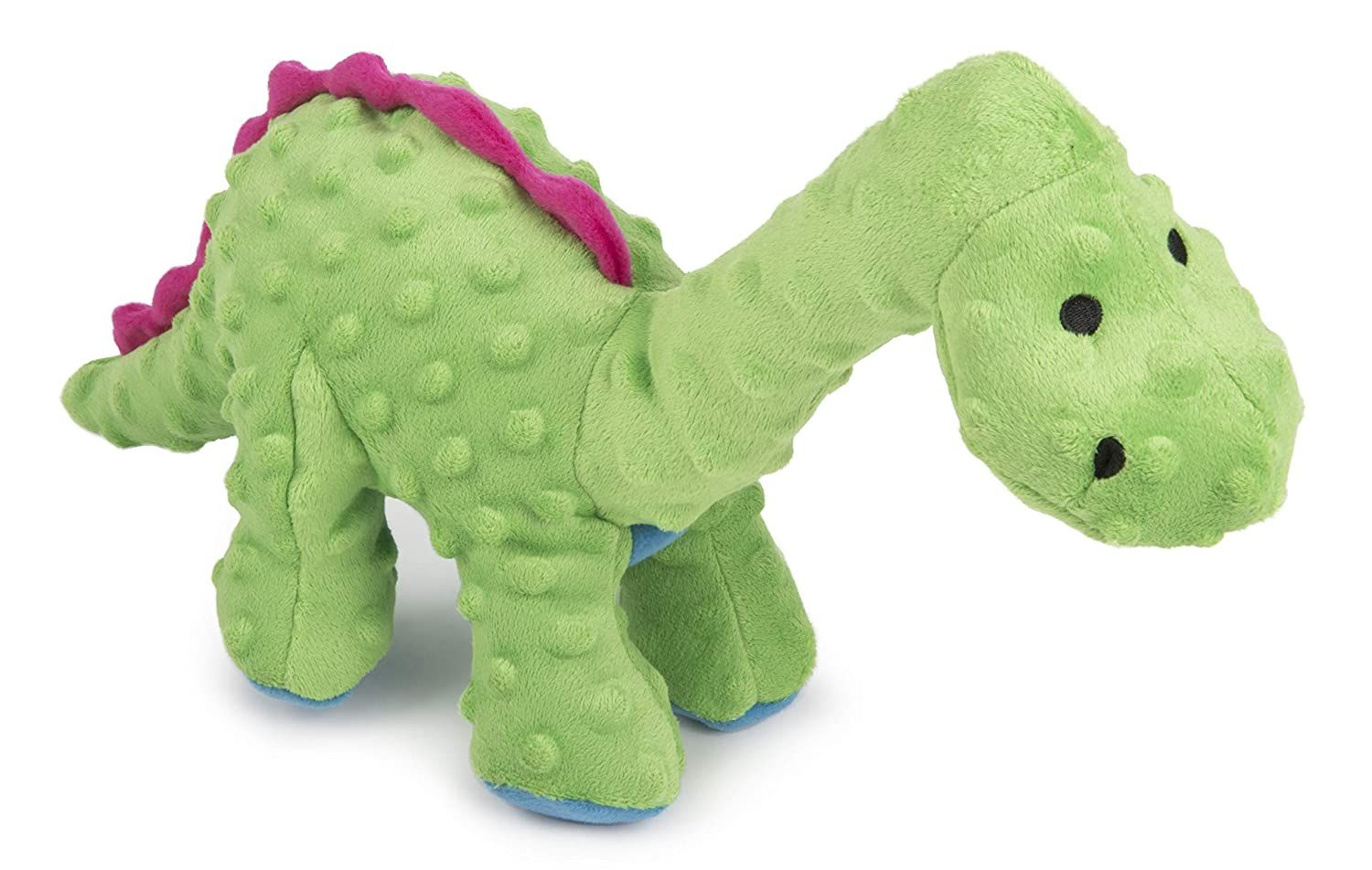 Godog Dinos With Chew Guard Technology Durable Plush Squeaker Dog