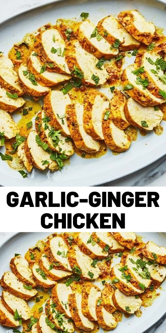 Photo of Garlic-Ginger Chicken With Cilantro and Mint