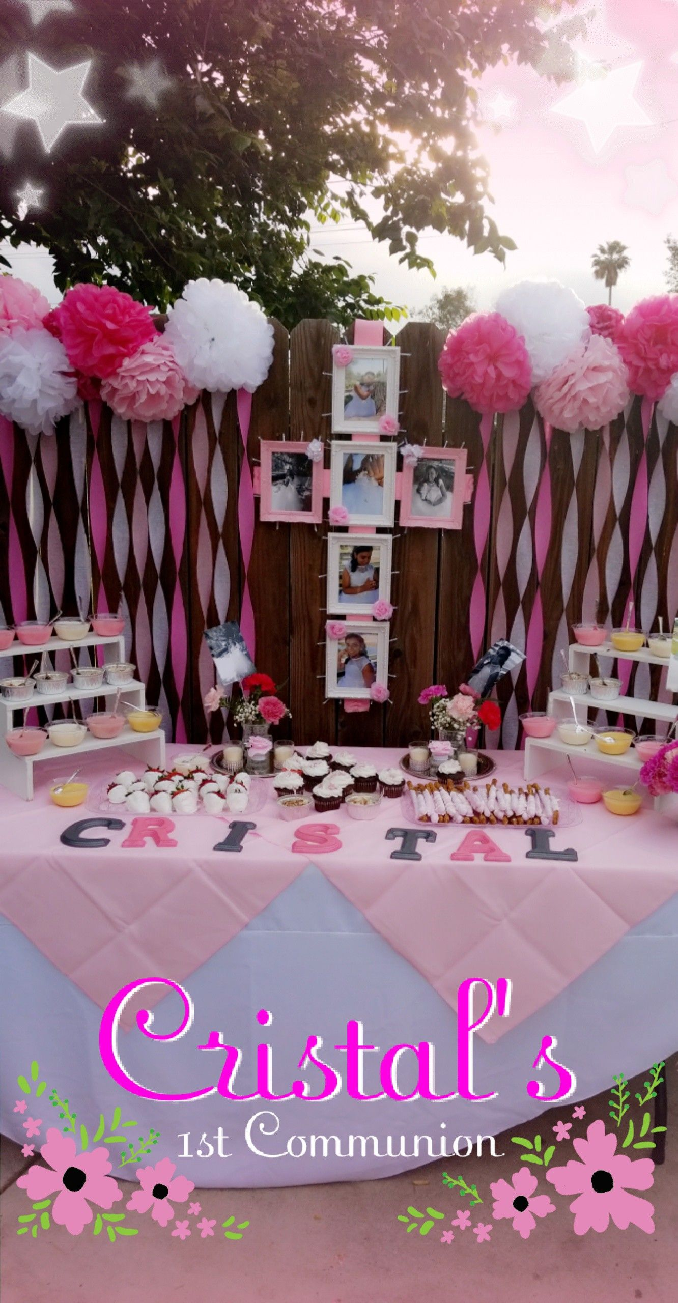 First Communion Backdrop 1st Communion Candy Table 1st Communion Decorations First First Communion Decorations Holy Communion Party First Communion Party