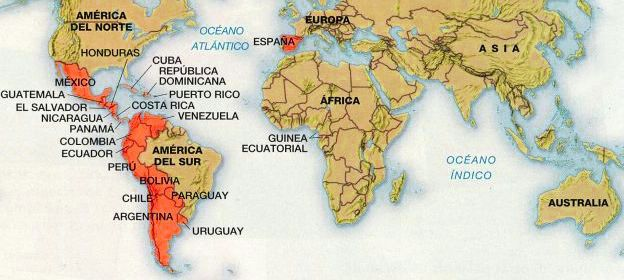 Map of Spanish-Speaking Countries Travel to all the Spanish speaking ...