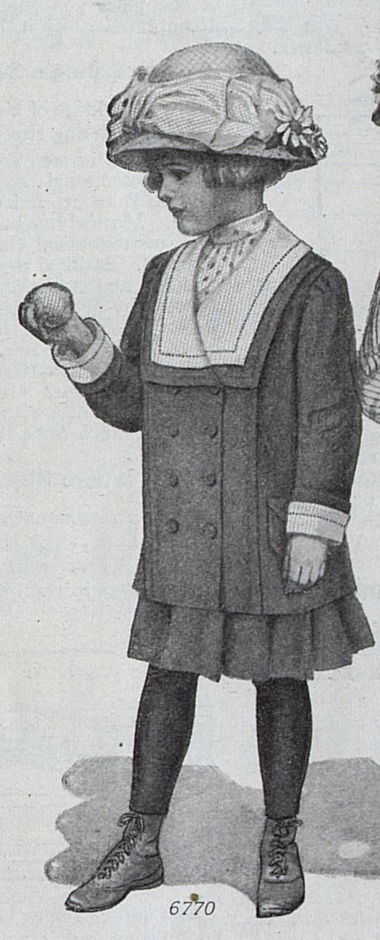 hundred-year-old picture of girl's jacket