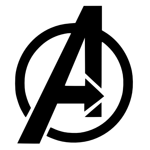 pumpkin template avengers  Avengers Symbol   Avengers symbols, Printable pumpkin ...