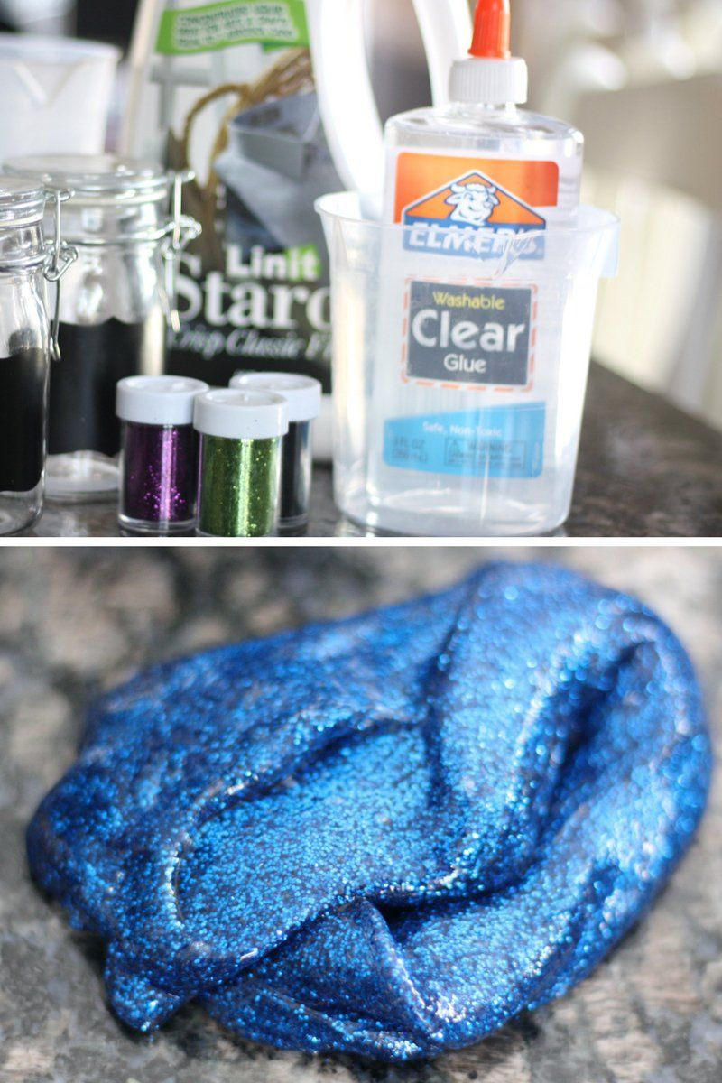 How to make clear glue glitter slime for cool kids science activity make fun clear glue glitter slime with kids for a cool science and chemistry activity ccuart Gallery