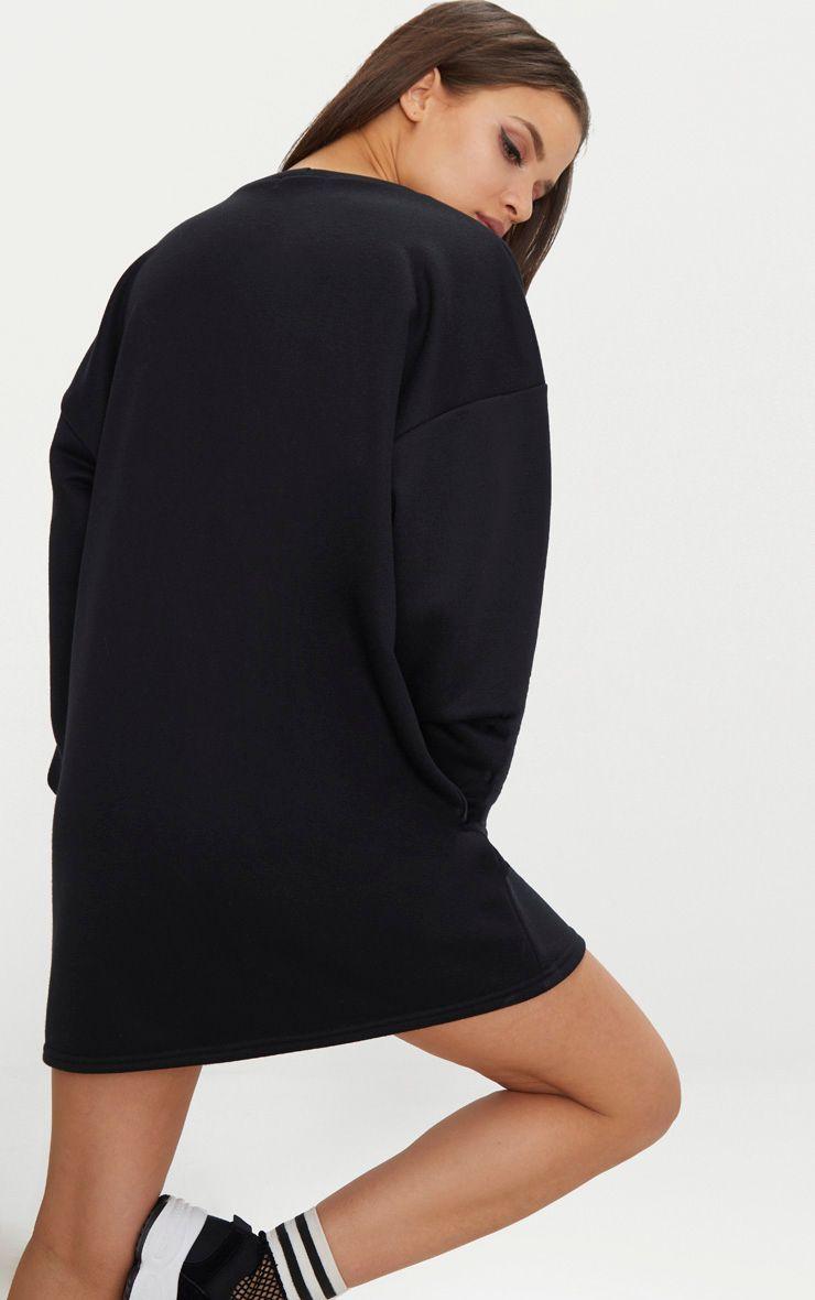 efcf8184160 PRETTYLITTLETHING Black Embroidered Jumper Dress