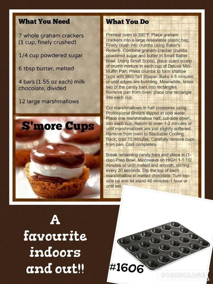 Mini Muffin Pan Smores Cups Pampered Chef Recipes
