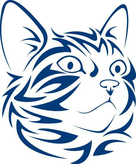 Tribal Cat Face Looking Right Vinyl Decal רישומים Pinterest - Vinyl decal cat pinterest