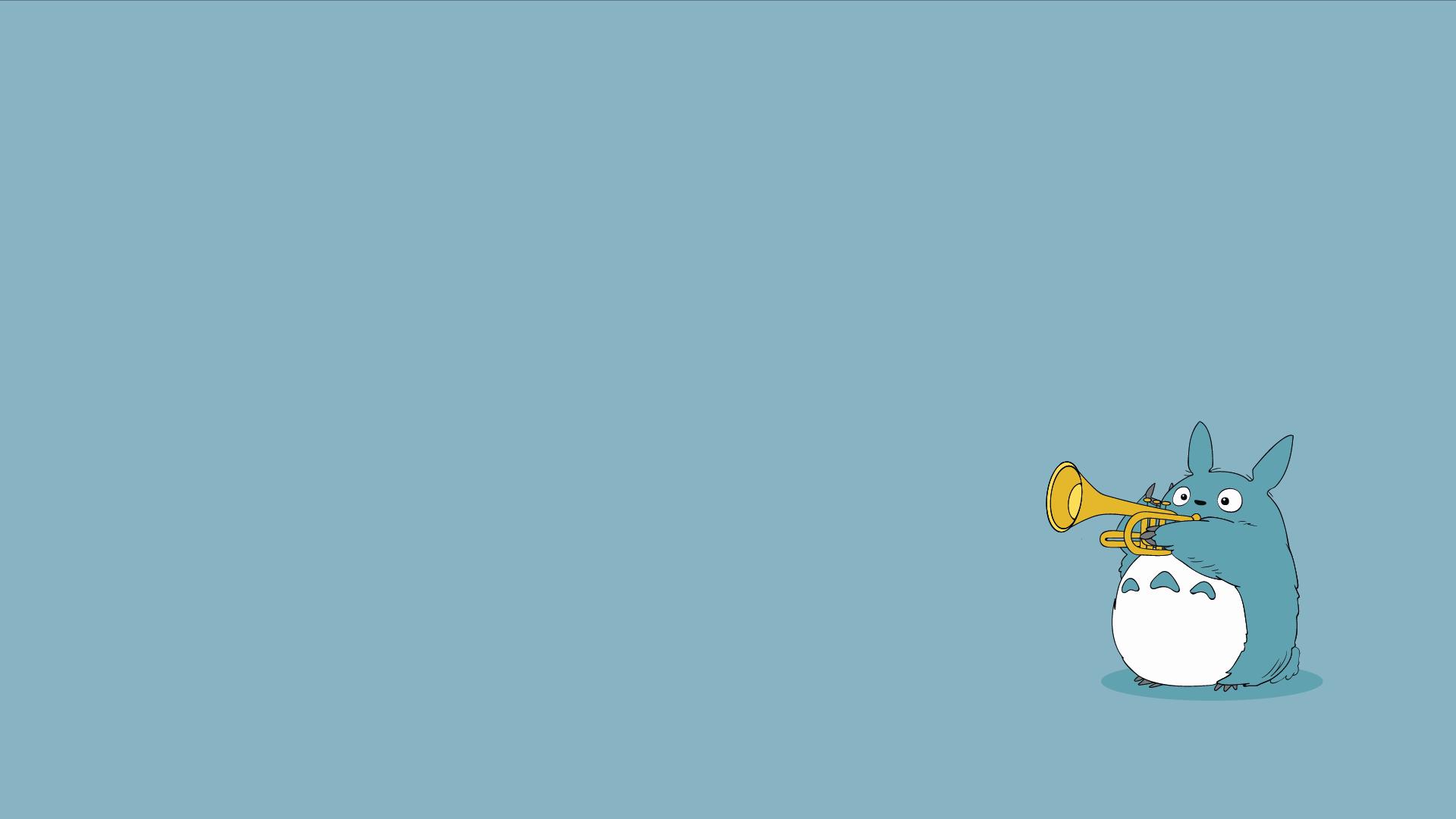 Minimal Totoro Wallpaper Studio Ghibli Wallpaper For Desktop Cute Desktop Wallpaper Cute Cartoon Wallpapers Cartoon Wallpaper