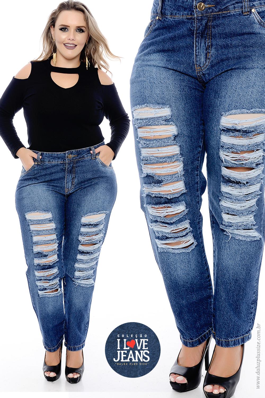 489d273e15 Calça Jeans Plus Size Melissa - Coleção I Love Jeans -  www.daluzplussize.com.br