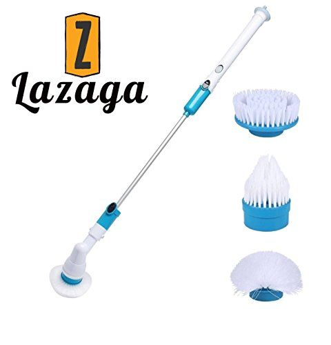 Lazaga Electric Spin Scrubber Rechargeable Turbo Scrubber - Automatic bathroom scrubber