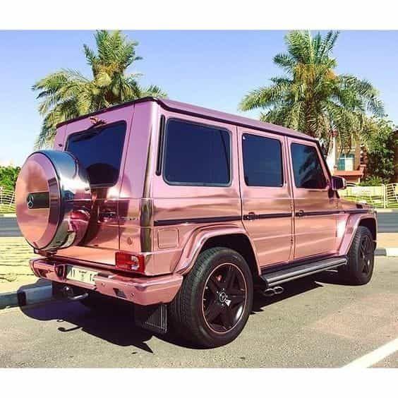 Shiny Chrome Pink SUV! Perfect!