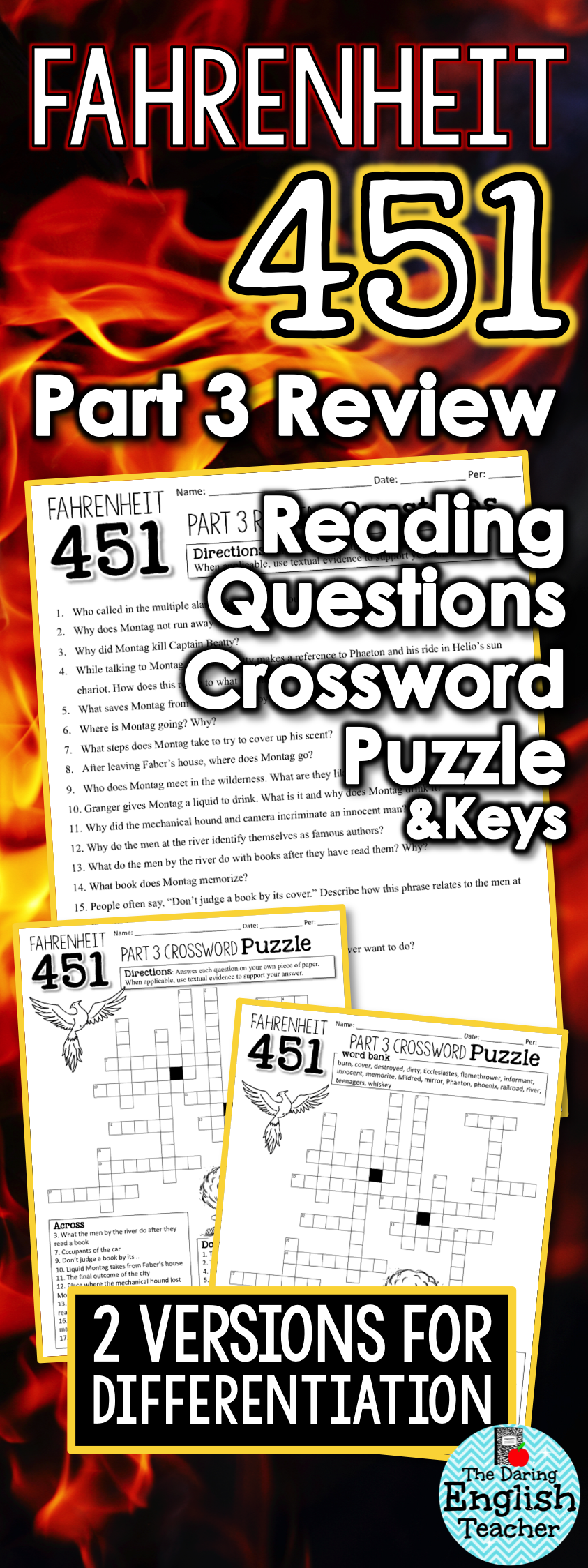 Fahrenheit 451 part 3 study guide questions and comprehension fahrenheit 451 part 3 study guide questions and comprehension crossword puzzle biocorpaavc Gallery