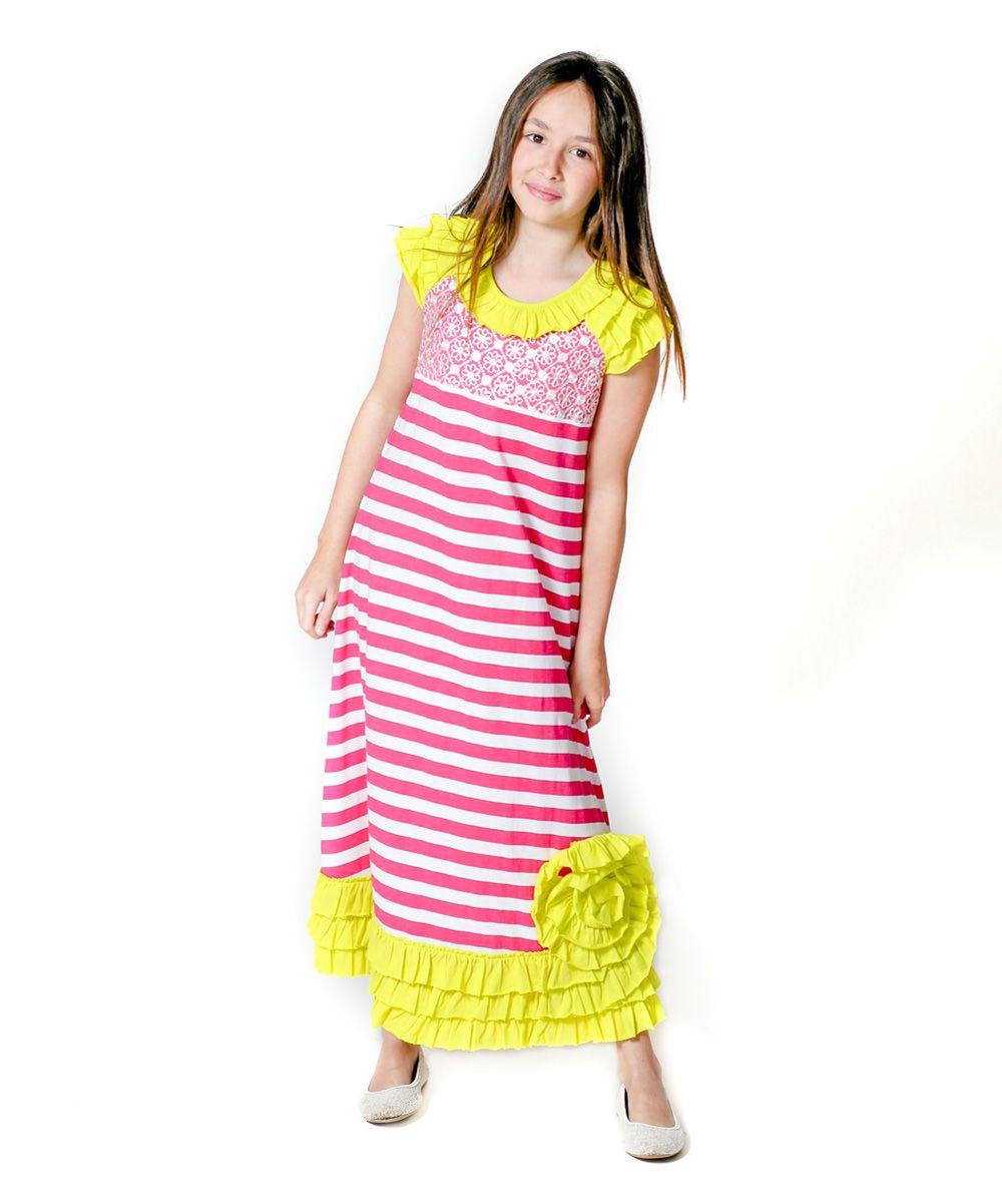 Pink stripe sun kissed maxi dress infant u toddler products