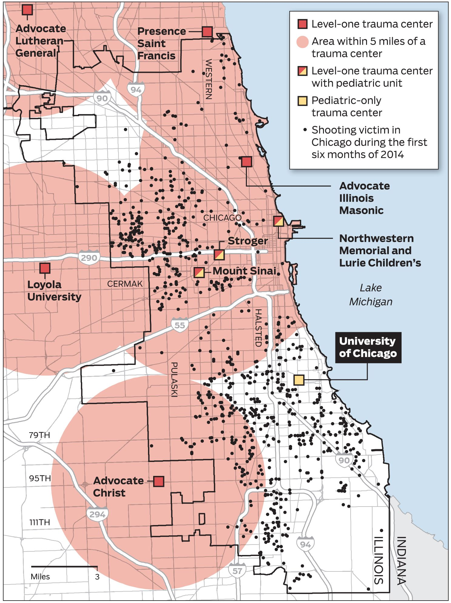 Map: Trauma centers and shootings in the Chicago area ... on people map, chicago murder map, chicago area map, chicago street map with numbers, chicago highway map with names, english map, goose island chicago map, chicago ward map, chicago indianapolis map, google map, chicago cubs map, the state map, chicago crime map, chicago suburban map, chicago united states map, chicago road map, chicago aurora map, chicago texas map, ap map, chicago bay map,