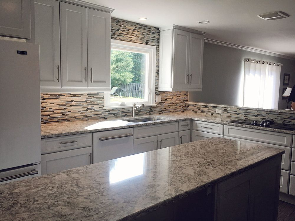 Gorgeous Kitchen Renovation In Potomac Maryland: Merillat Classic Cabinets In The Ralston 5-piece Door