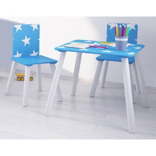 Fantastic Kidsaw Star Childrens 3 Piece Writing Table And Chair Set Dailytribune Chair Design For Home Dailytribuneorg