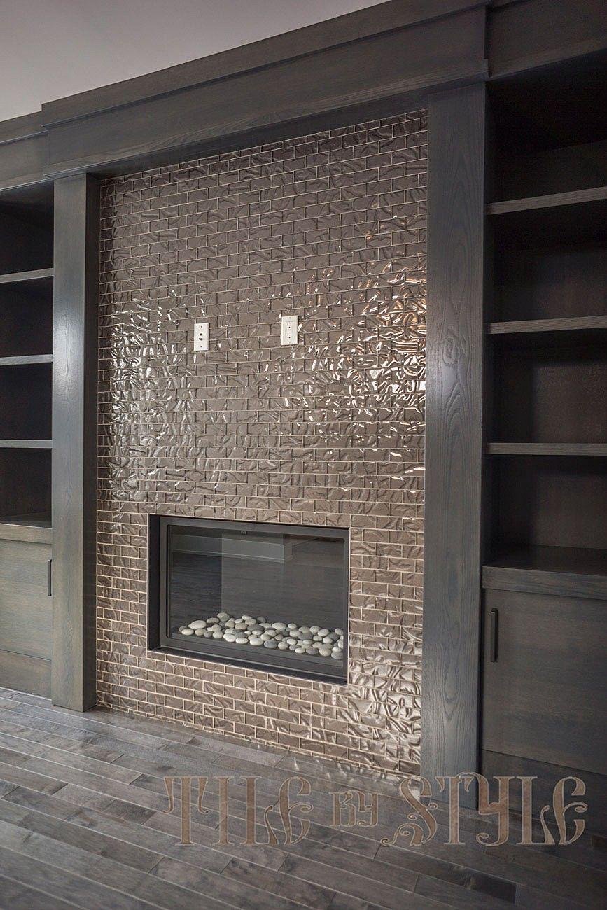 linear fireplace fireplace tile