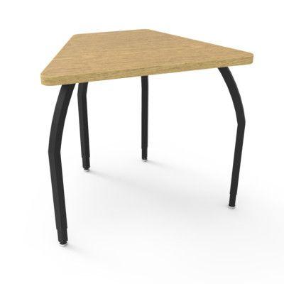 WB Manufacturing Elo Laminate Adjustable Height Collaborative Desk Desk Finish: Bannister Oak, Frame Finish: Black