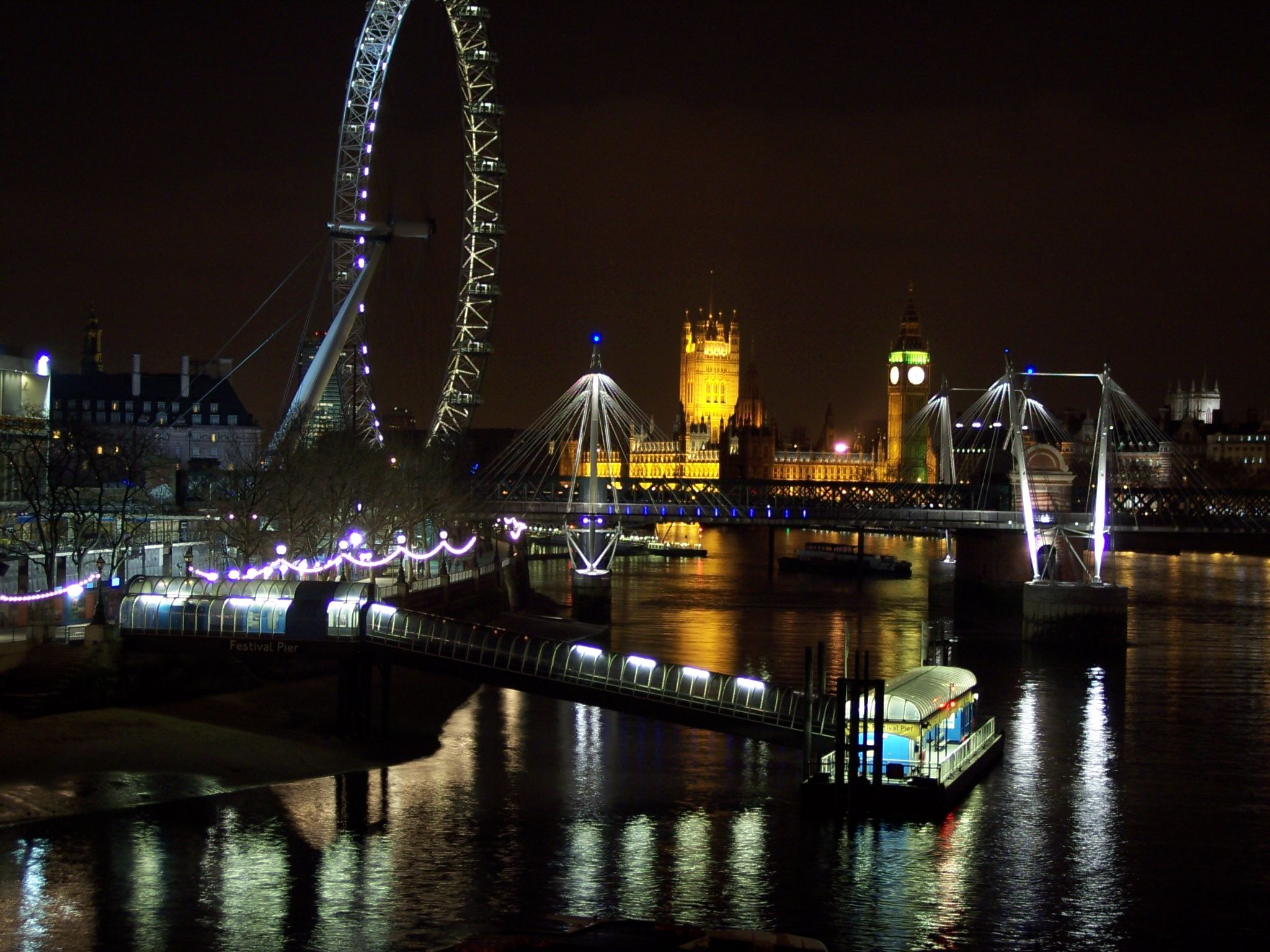 The View From Waterloo Bridge At Night Not Much Better Than