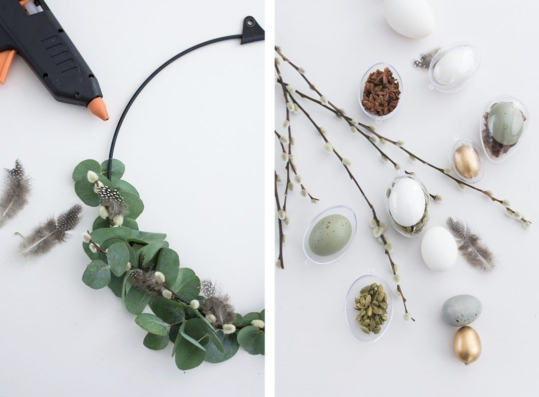 Photo of Modern Easter wreath with eucalyptus and spices – Sinnenrausch – The creative DIY blog for the homely and do-it-yourself