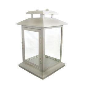 1799 lowes garden treasures 1181 in h white metal outdoor decorative lantern - Decorative Lanterns