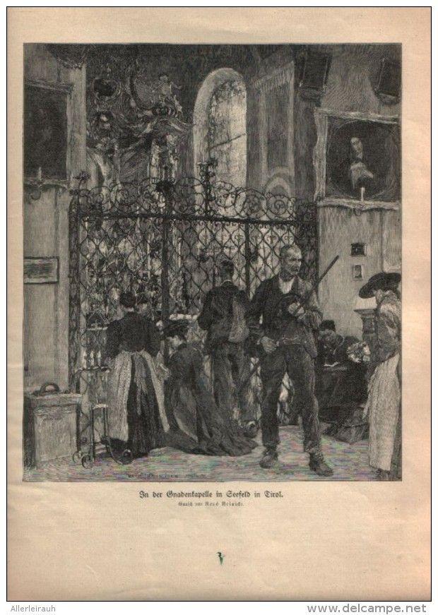 In Der Gnadenkapelle In Seefeld In Tirol Druck Entnommen Aus Die Gartenlaube Jahrgang Unbekannt Artikelnummer 396426491 Drucken Tirol Und Laub