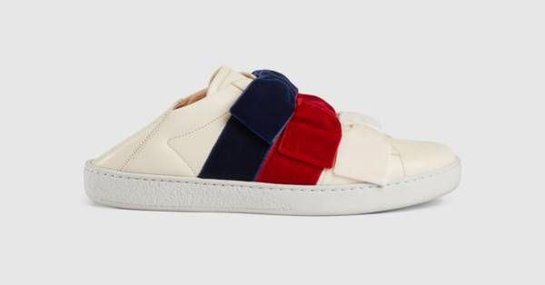 02170e96e0f Gucci Ace sneaker with velvet bows