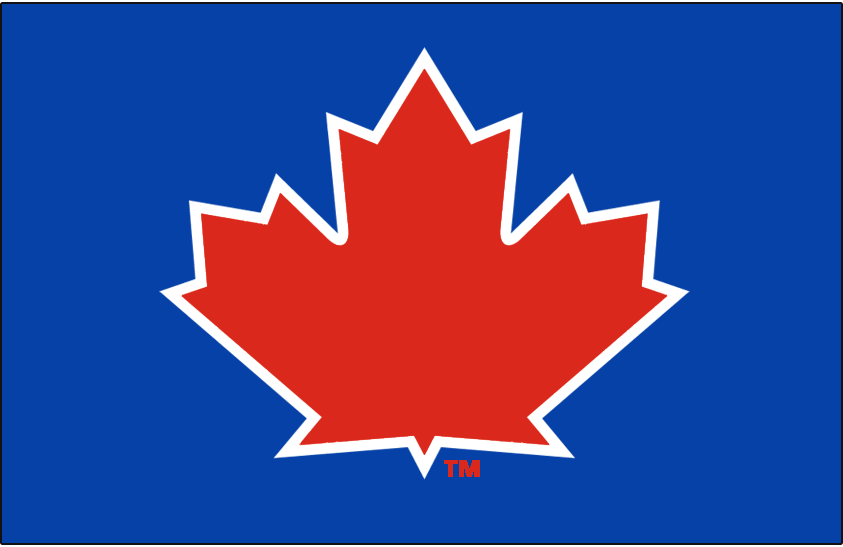 Toronto Blue Jays Batting Practice Logo 2013 A Red Maple Leaf With A White Outline On A Blue Cap Worn On Th Toronto Blue Jays Blue Jays Blue Jays Baseball
