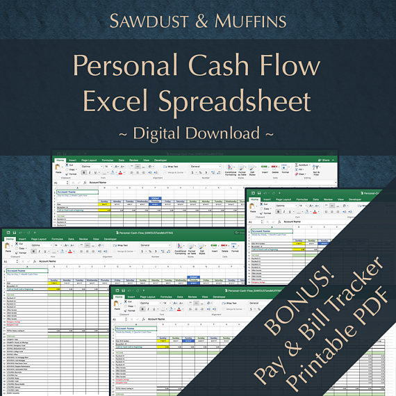 Personal Finance / Cash Tracker / Excel Spreadsheet / Dave Ramsey